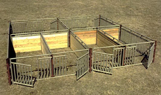 Miniature Horse Stall System, using the W-W Livestock Systems Versat-Stall system.  Othe stalls and configurations are available at www.horsesense.ws