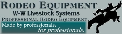 Bucking Chutes and Roping Chutes used exclusively the NFR, IFR and Pro Rodeo Hall of Fame, W-W Rodeo Equipment including Roping chutes, Bucking Chutes, and complete rodeo arena designs and NRHA or FEI-International Championship Level Performance Arena Footing.